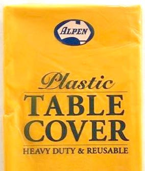 Plastic Table Cover Round - Yellow