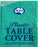 Plastic Table Cover Round - Teal