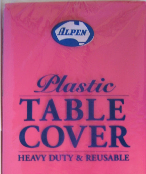 Plastic Table Cover Round - Classic Pink