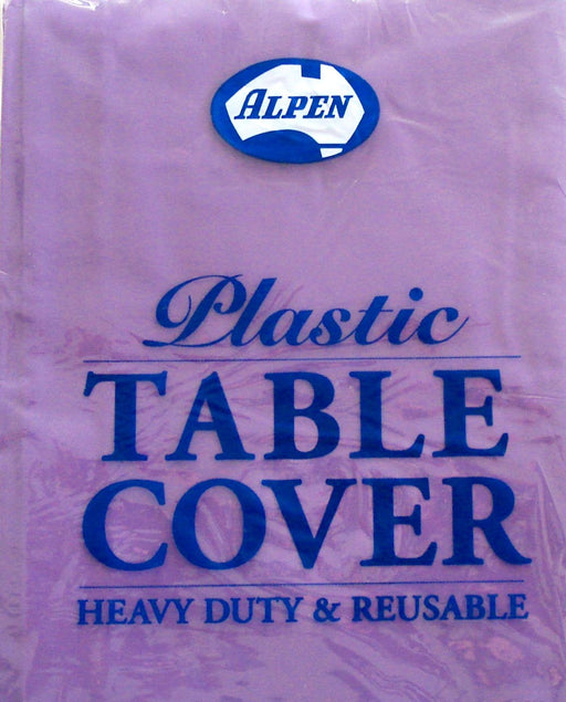 Plastic Tablecover Round - Purple