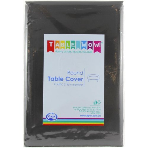 Plastic Table Cover Round - Black