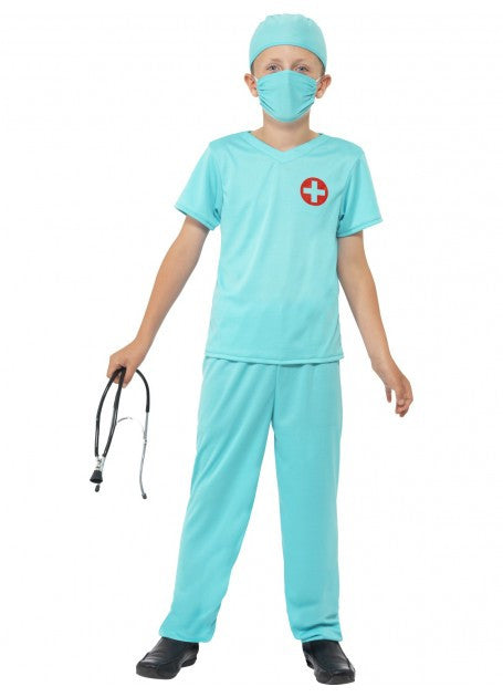 Kids Surgeon Costume Large