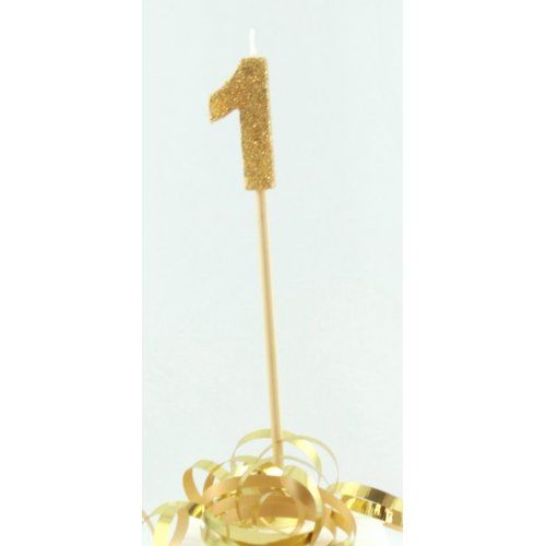 Candle Gold Glitter Large - 1