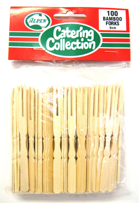 Bamboo Forks 9cm Pack Of 100
