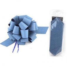Pull Bow Sml Diamond Blue