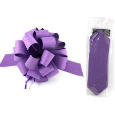Pull Bow Sml Diamond Purple