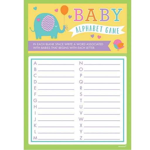 Baby Shower A To Z Game 24Pcs