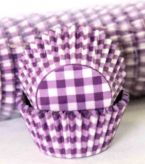 408 Baking Cups | Purple GIngham | 100 Piece Pack