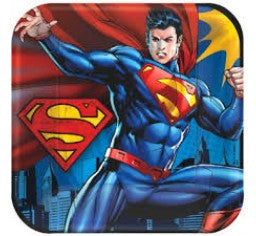 "SUPERMAN SQUARE 9"" PLATE 8 PACK"