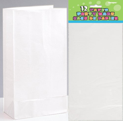 PAPER PARTY BAGS WHITE