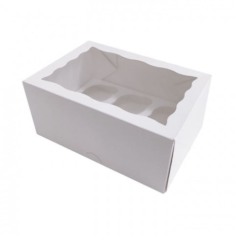 6 Cupcake Display Box With Insert PE Coated