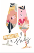 Engagement Wishes Card With Wine Glasses
