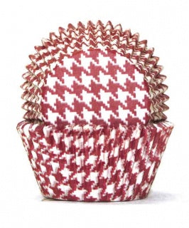 700 Baking Cups | Red Hounds Tooth | 100 Piece Pack
