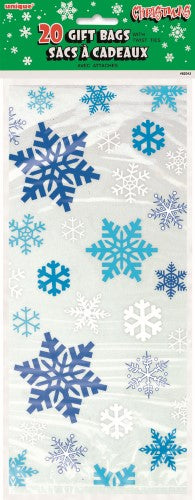 Cello Bags Snowflake 20 Pack