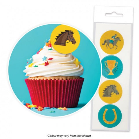 Cake Craft | Melbourne Cup | Wafer Toppers | Packet of 16