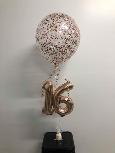 "Confetti Balloon 18""/40cm Customized with Small Numbers"