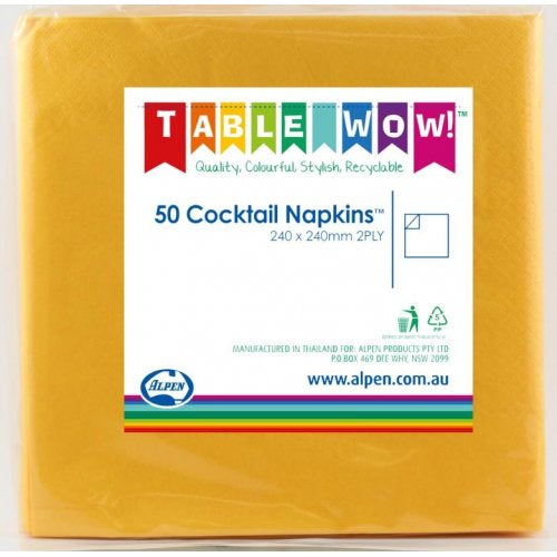 Napkin Cocktail Yellow