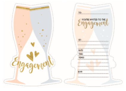 Engagement 8 Pack Invitations