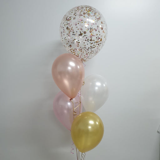 "Confetti Balloon Bouquet 18""/40cm with 4 Plain"