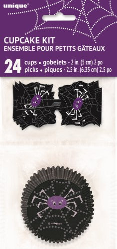 Spider Web Cupcake Kit for 24