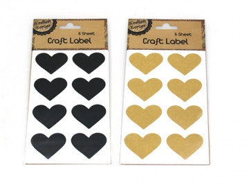 ADHESIVE VINTAGE HEART LABELS