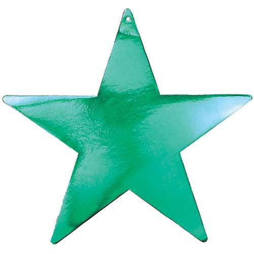 Green Foil Cardboard Cutout Star