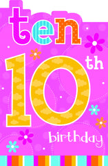 10TH BIRTHDAY CARD FLOWERS