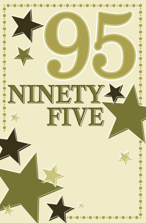 95TH BIRTHDAY CARD STARS
