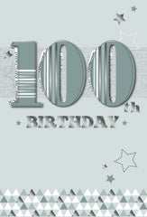 100th BIRTHDAY CARD STARS