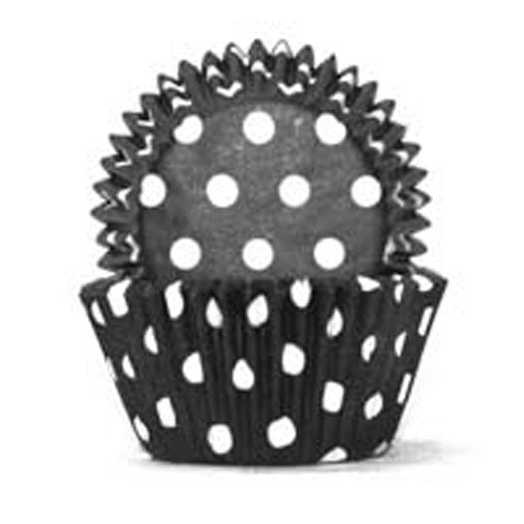 408 Baking Cups - Black Polka Dots - 100 Piece Pack