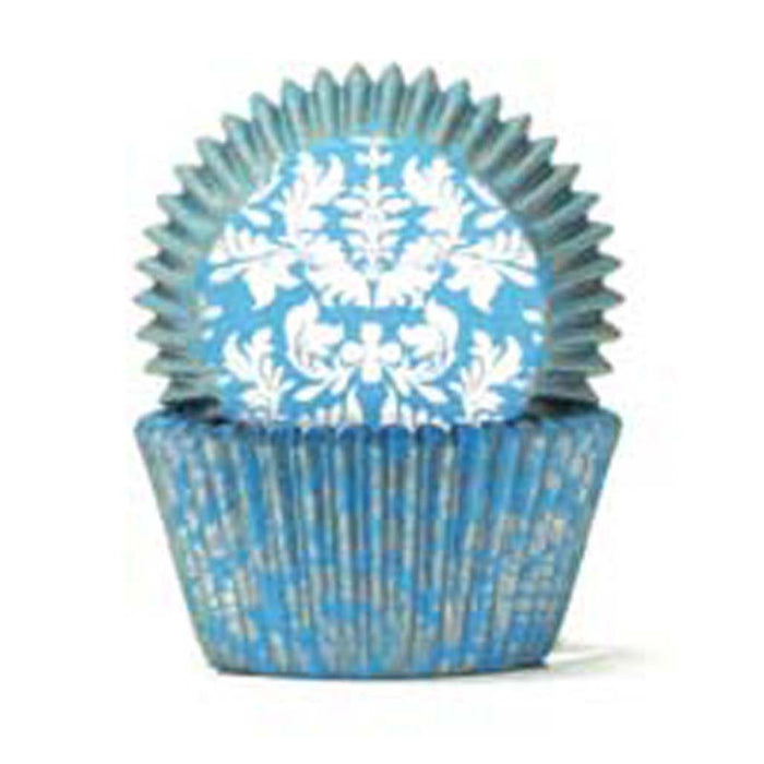 408 Baking Cups - Blue/Silver High Tea - 100 Piece Pack