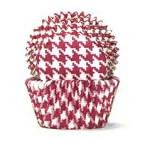 408 Baking Cups - Red Hounds Tooth - 100 Piece Pack