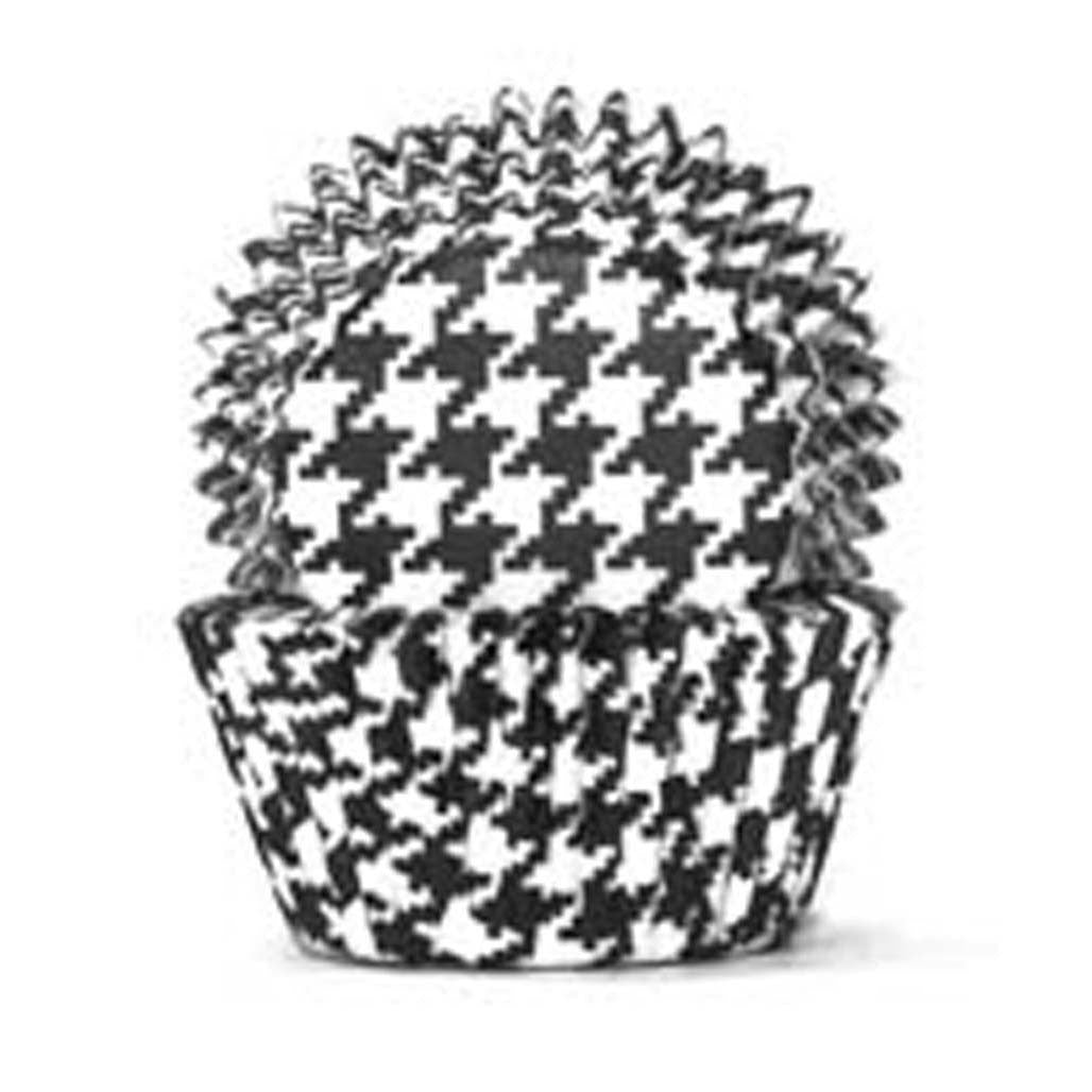 408 Baking Cups - Black Hounds Tooth - 100 Piece Pack