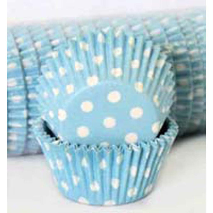 408 Baking Cups - Pastel Blue Polka Dots - 500 Piece Pack