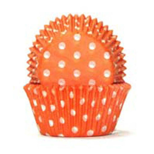 700 Baking Cups - Orange Polka Dots - 100 Piece Pack