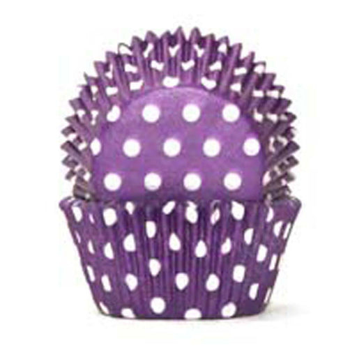 700 Baking Cups - Purple Polka Dots - 100 Piece Pack