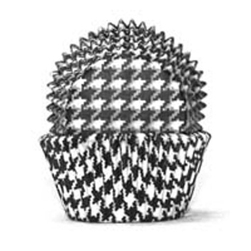 700 Baking Cups - Black Hounds Tooth - 100 Piece Pack