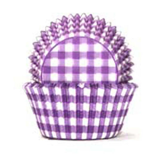 700 Baking Cups - Purple Gingham - 100 Piece Pack