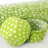700 Baking Cups - Lime Green Polka Dots - 500 Piece Pack