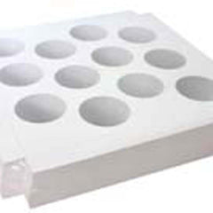 10x10x4 Inch Cake Box Cupcake Tray Insert - 12 Cup