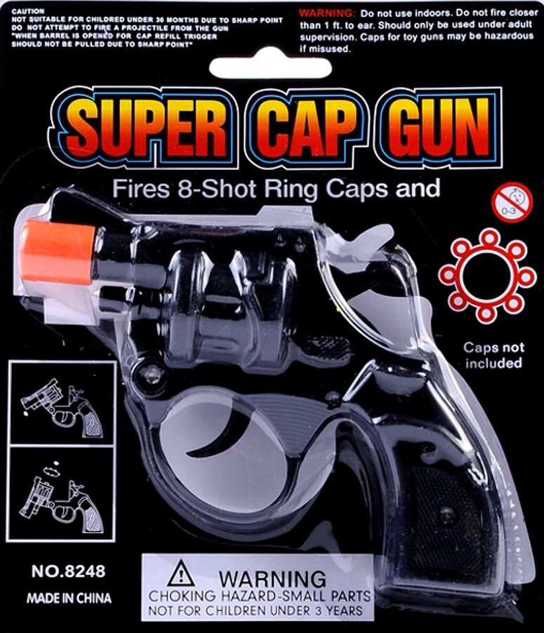 SUPER CAP GUN 8 SHOT RING CAPS