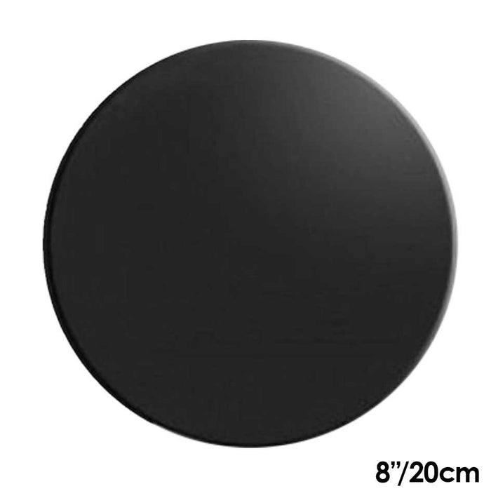 Cake Board | Black | 8 Inch | Round | Mdf | 6mm Thick