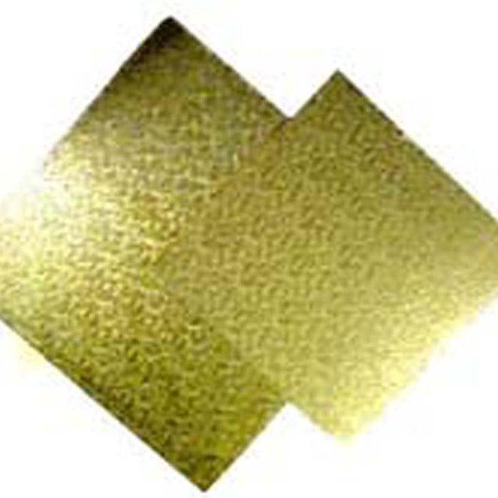 Cake Board | Gold | 8 Inch | Square | Masonite | 6mm Thick