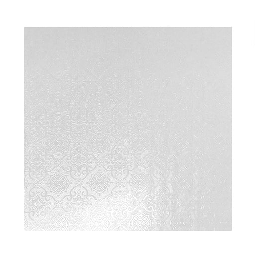 16 INCH-40CM SQUARE 6MM MDF WHITE CAKE BOARD