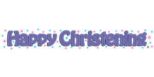 BANNER HAPPY CHRISTENING