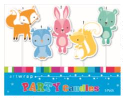 CANDLES ANIMALS 5 PACK