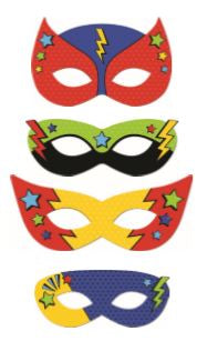 MASKS SUPERHERO 8 PACK