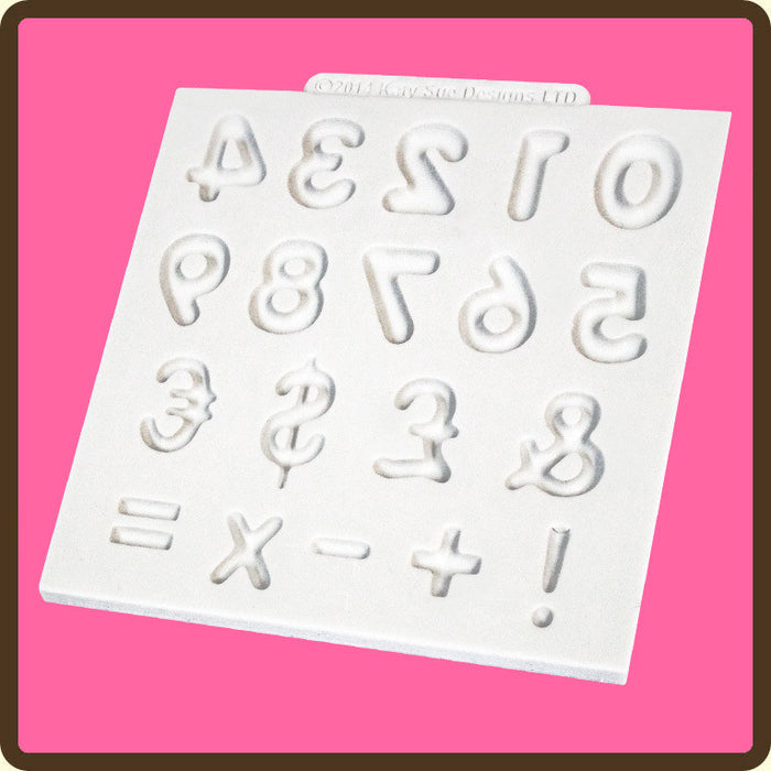 Domed Numbers Design Mat Mould By Katy Sue