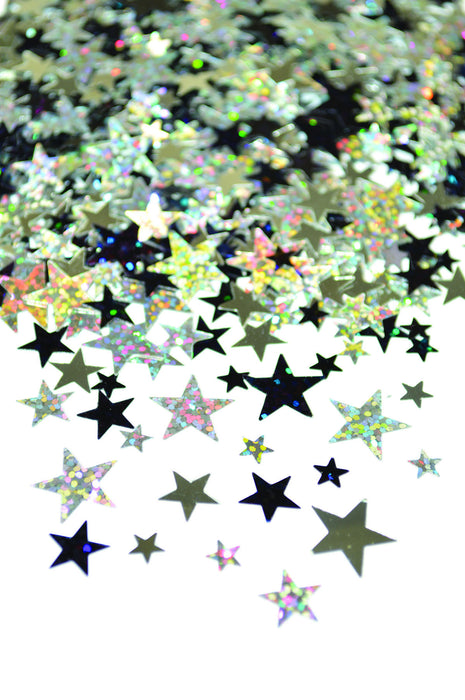 SCATTER STARS BLACK AND SILVER