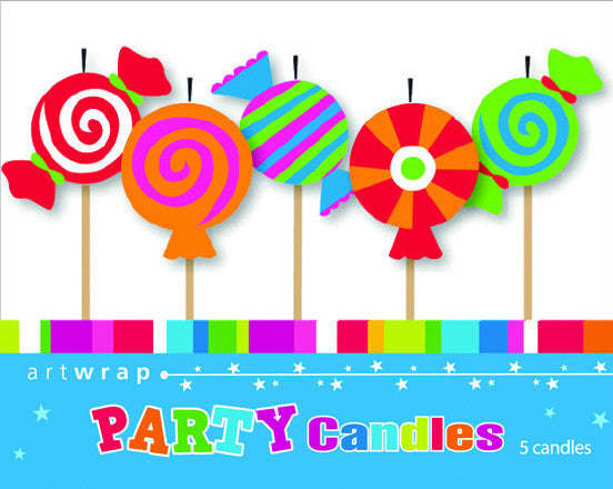 CANDLE 5 PACK - LOLLIES